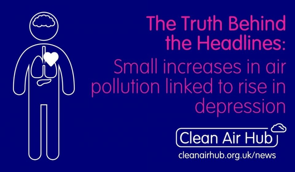 Truth Behind the Headlines: Small increases in air pollution linked to rise in depression, finds study