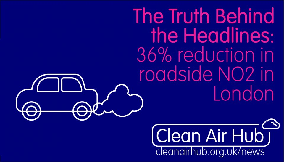 Truth Behind the Headlines: 36% reduction in roadside NO2 after 6 months of ULEZ