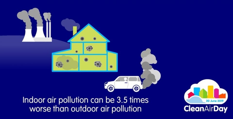Indoor air pollution 3.5 times worse than outdoor air pollution