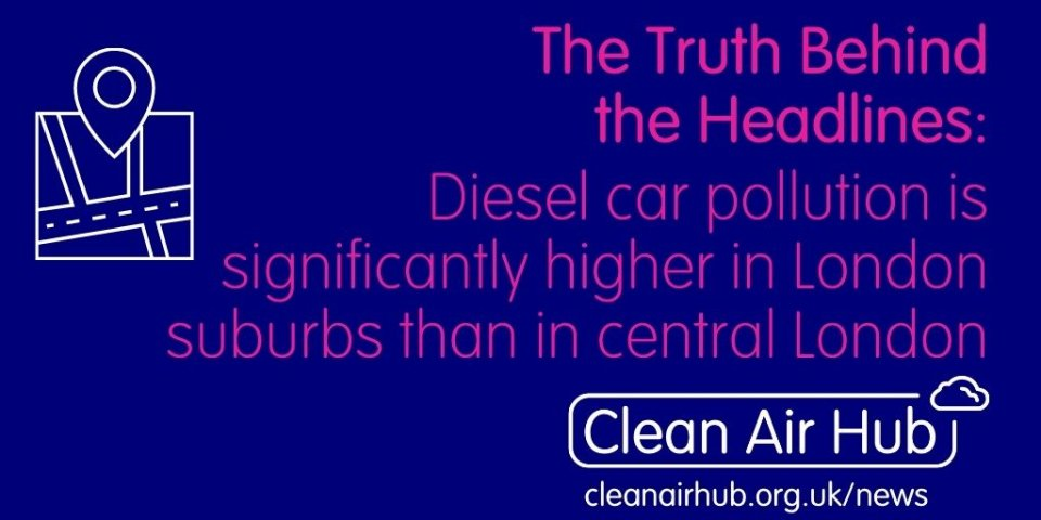 Truth Behind the Headlines: Diesel car pollution is significantly higher in London suburbs than in central London